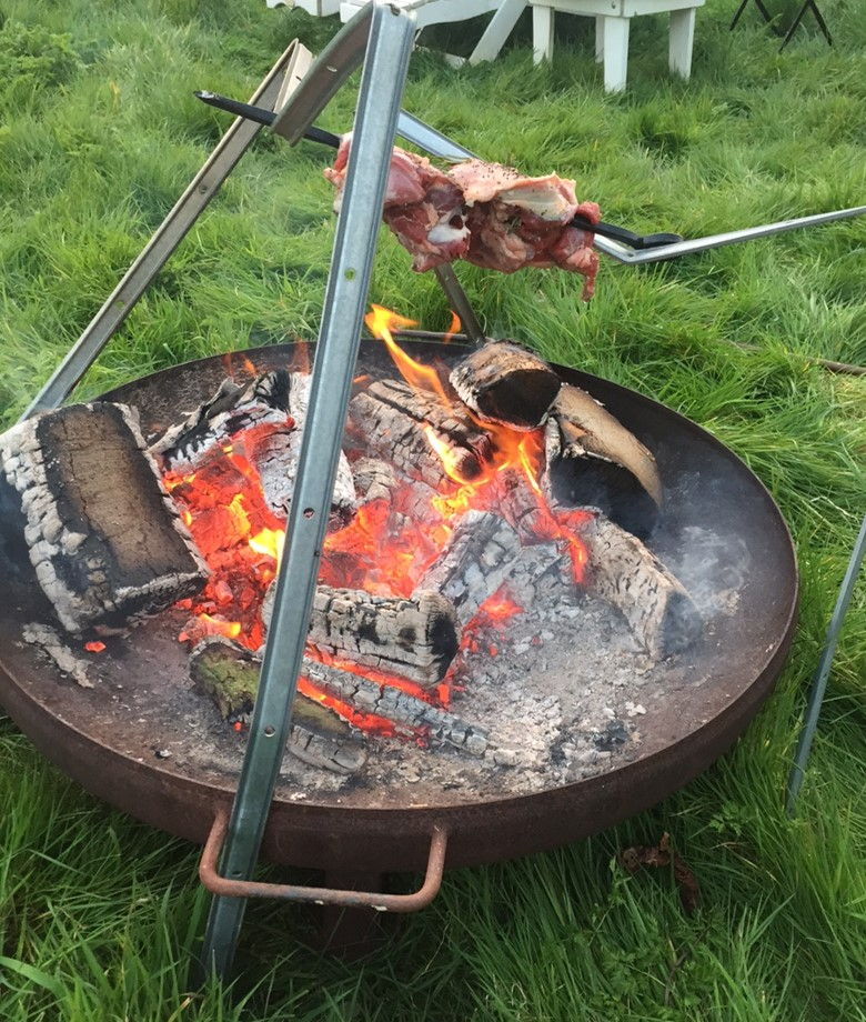 Open Fire Barbecue Lamb